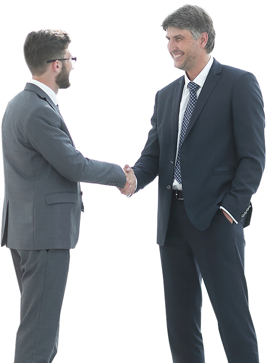 Two business professional men shaking hands